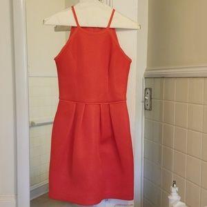 Deep salmon dress